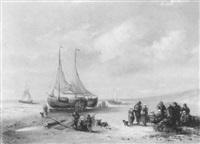beim entladen des fischfangs by maurits verveer