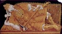 hl. wolfgang von regensburg als reich bekleideter leichnam by johann michael vollmer