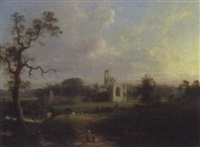 kirkstall abbey by george arnald