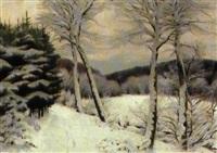 skovparti, vinter by hans mortensen agersnap