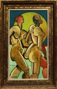 two figures by geoffrey key