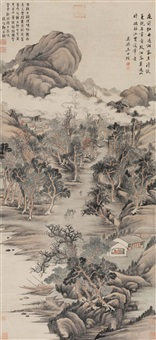 山水 (landscape) by wang shichen