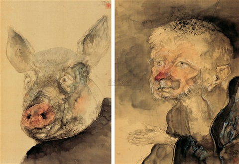 行者3、4 the walker no3no4 2 works by qiu jiongjiong