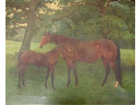 ulster queen and foal by st. simon by george gascoyne