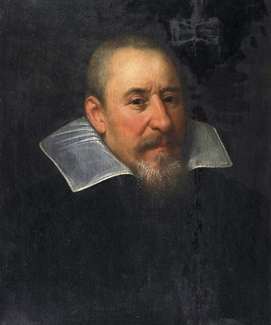 herrenporträt by bartholomäus (barthel) bruyn the younger