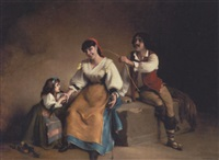 italiensk familie by charles corbineau