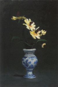 the blue white vase by john court