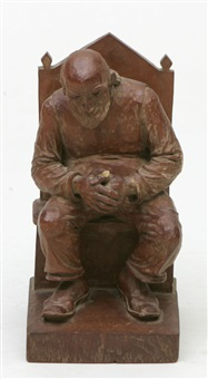 sittande man by emil g. janel