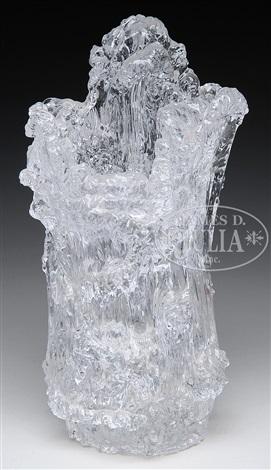Contemporary Icicle Art Glass Vase By Blenko Glass Company On Artnet
