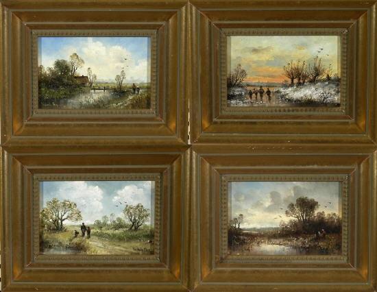 landschaften im spiegel der vier jahreszeiten set of 4 by ludwig frey