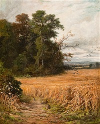 rabbits in a cornfield by william samuel jay