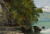 bord de lac by auguste bachelin