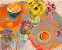 sunflowers still life by alma wolfson