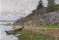 kustlandskap med eka by anton genberg