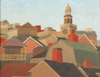 nantucket roof tops by lucien van vyve