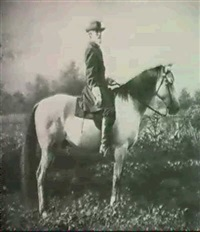 general robert e.lee on his warhorse