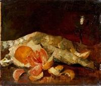 stillleben mit orangen und zitronen by anton müller-wischin