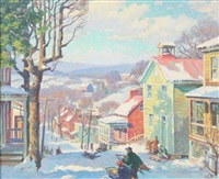 sledding, waterford, virginia by garnet w. jex