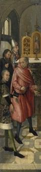josephs erwählung im tempel by jan van der coutheren