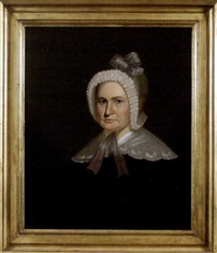 portrait of mrs. john harrison (mrs. thomas eddens) by george caleb bingham
