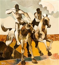 figures on horseback by geoffrey key