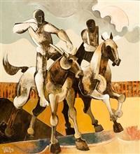 figures on horseback by geoffrey key