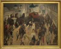 the elephant and castle horse auction by james bateman