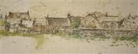 unfinished farm scene by david haughton