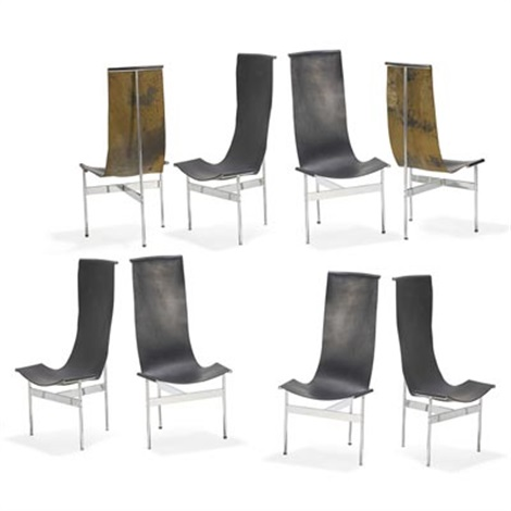 Remarkable Set Of Seven T Chairs By William Ketavolos Ross Littell And Machost Co Dining Chair Design Ideas Machostcouk