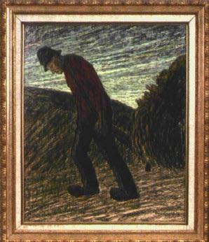 holländischer landarbeiter beim ziehen des heuwagens by cornelis albert van assendelft