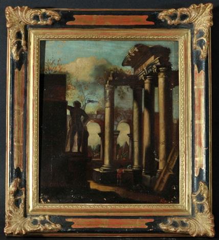 römische ruinen mit statuen und personen by giovanni paolo panini