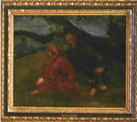 petrarca und laura by arnold böcklin the elder