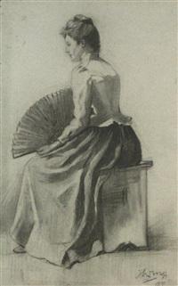 portret van een meisje by jan toorop