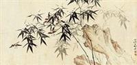 竹石群雀 by liu zigu