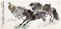 六骏图 (six horses) by ma xinle