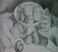 fruchtestilleben mit apfeln,                birnen und babanen by kurt kempin