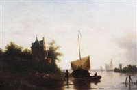 dutch canal scene by jacobus freudenberg