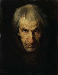 mönchskopf (study) by wilhelm kreling
