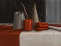 red peppers- a still life by trudie mooney
