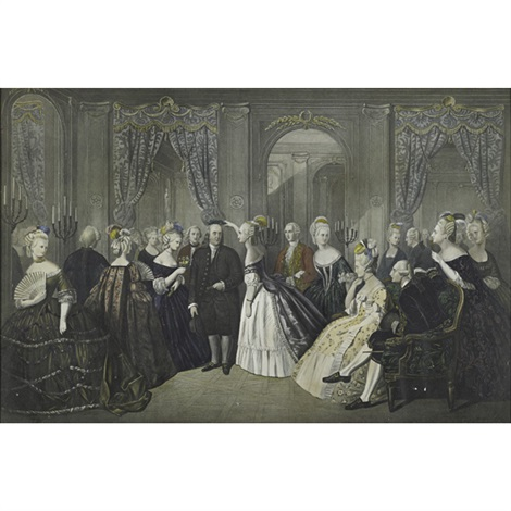benjamin franklin at the court of france 1778 after andre edouard baron jolly by william overend geller