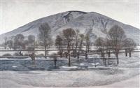 云关冬雪 (winter snow) by liu xun