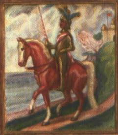 ritter mit lanze zu pferd by hans von faber du faur