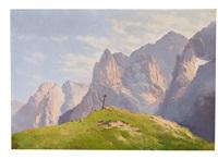das kaisergebirge in tirol an einem prachtvollen sommertag by sepp pacher