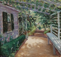 giverney garden by pauline palmer