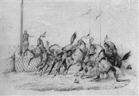 pferdezirkus unter freiem himmel by victor-jean adam