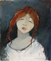 portrait eines jungen mädchens by esther peretz arad