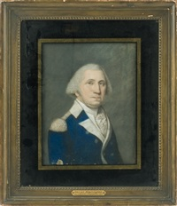 portrait of george washington in uniform by james sharples