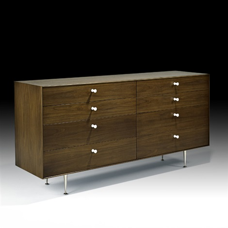 eight drawer thin edge cabinet no 5221 by george nelson