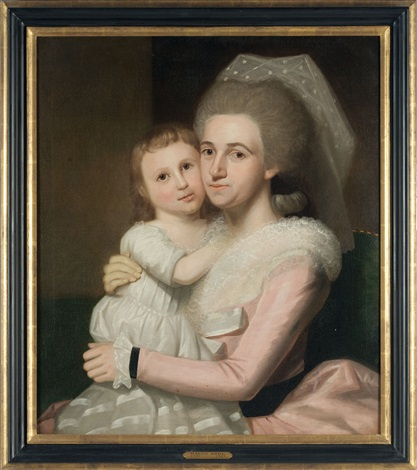 portrait of annie mcclellan lovett and daughter by ralph earl