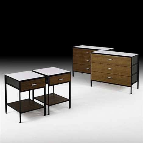 steelframe dressers and nightstands pair by george nelson